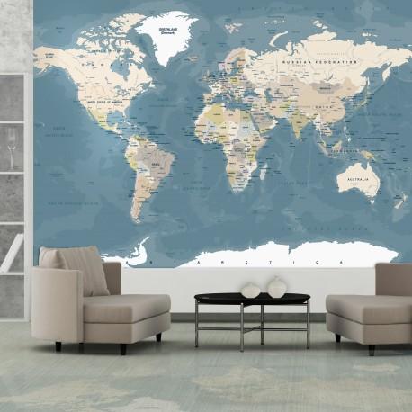Photo Wallpaper-Vintage World Map
