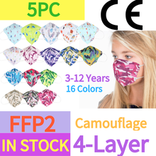 5PC Mascarilla fpp2 Homologada Enfants Camouflage ffp2 Masque ffp2 Mascarillas ninos maques ffp2mask ffp2Facemask Masque enfant