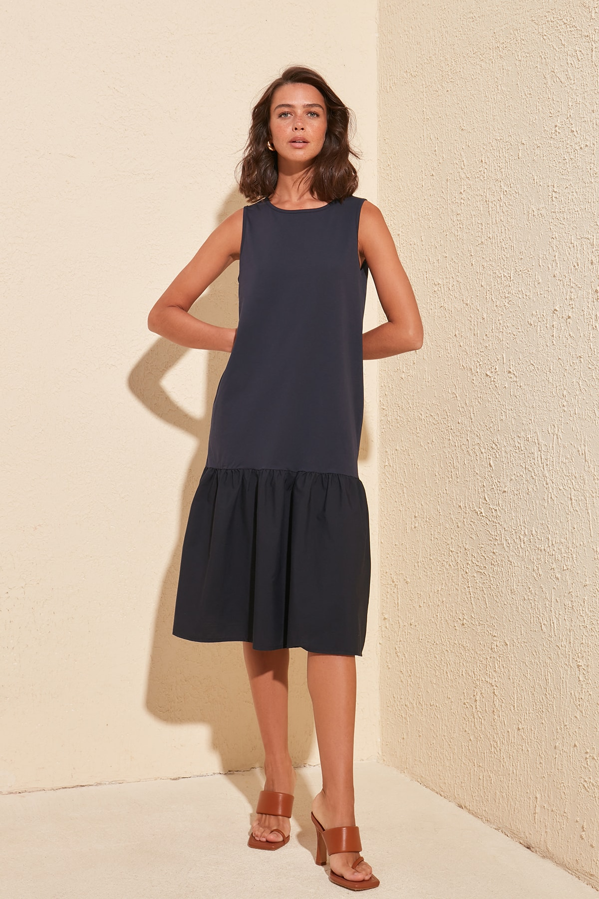 Trendyol Flounces Knit Dress TWOSS20EL0689