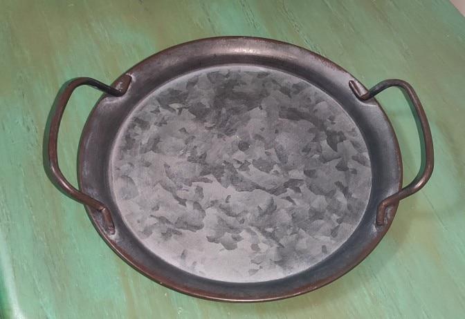 Retro European Round Metal Plate photo review