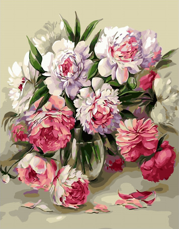 Picture By Numbers GX 32359 Shelest Peonies 40*50