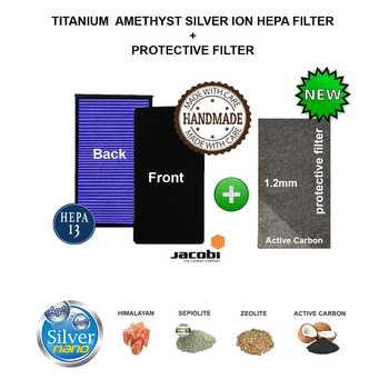 SANYO ABC-VW24 A Air Purifier Compatible Hepa Carbon Combined Filter new Antiviral Silver Ion Protective Filter image