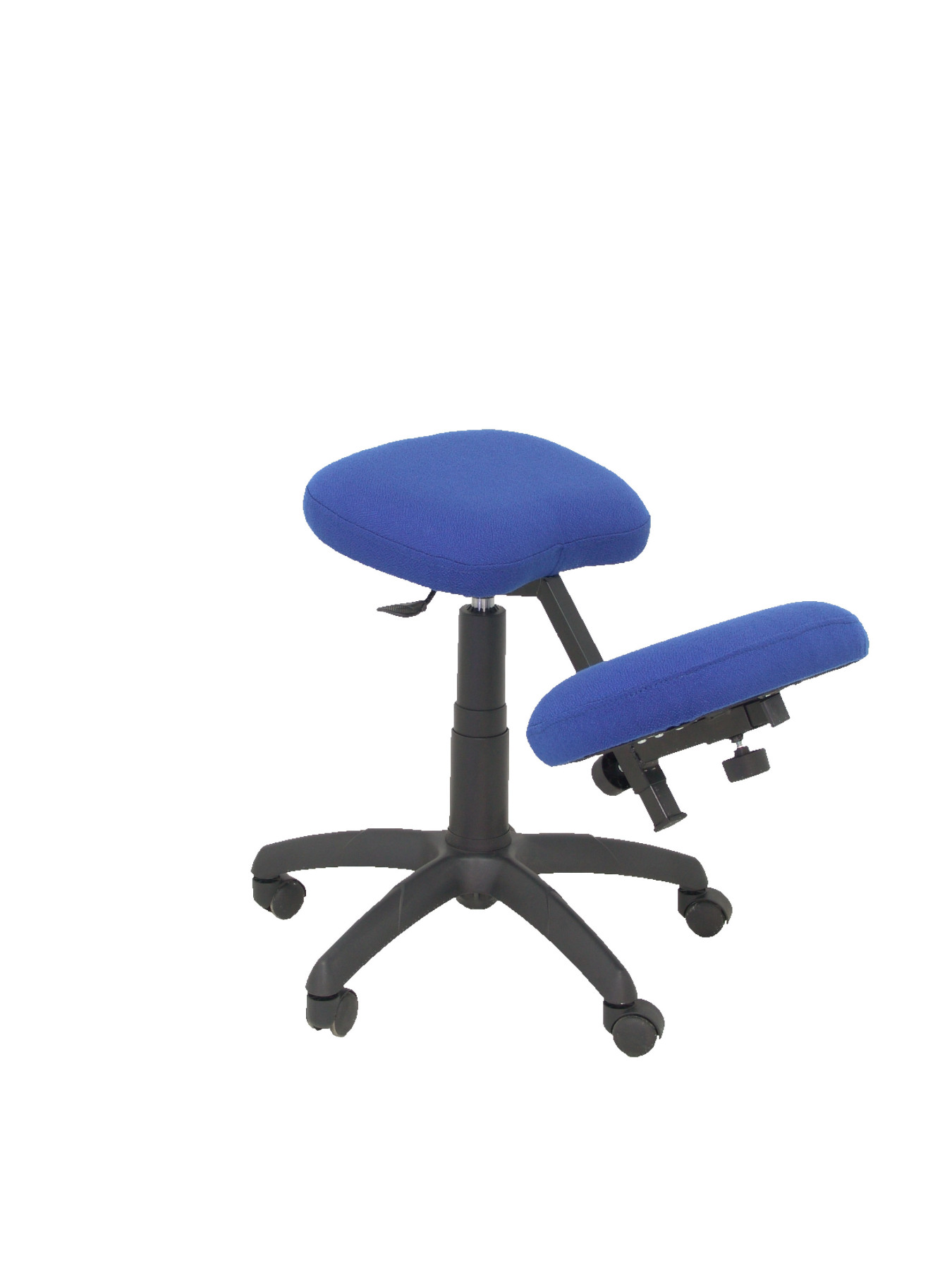 Office's Stool Ergonomic Swivel And Dimmable In High Altitude Up Seat Upholstered In BALI Tissue Color Blue (KNEE R