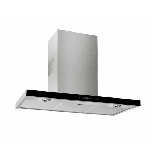 Conventional Hood Teka DLH985T 90 Cm 740 M3/h 68 DB 287W Stainless Steel Black