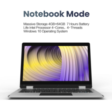 2019 XIDU ordenador portátil de 11,6 pulgadas tableta 2 en 1 portátil pantalla táctil Windows 10 1080P pantalla Quad Core