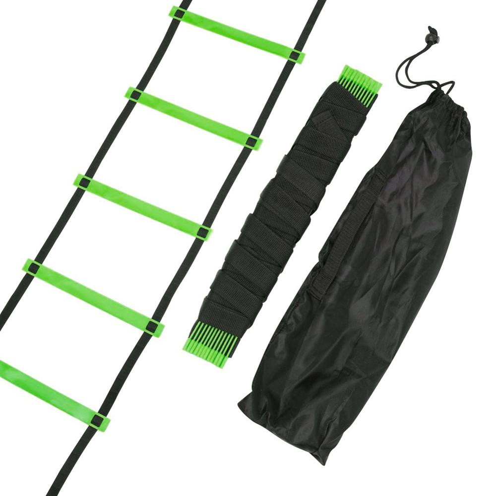 5/6/9/12 Rung Nylon Straps Training Stairs Agility Ladders Soccer Football Tab Speed Ladder Sports Fitness Equipment 3/5/6m(China)