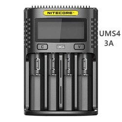 NITECORE UMS4 UM4 UMS2 UM2 SC4 지능형 QC 충전기 18650 16340 21700 20700 22650 26500 18350 aa aaa 배터리 충전기