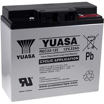 YUASA REC22-12I replacement battery for SAI 12V 22Ah (replaces also 17Ah 18Ah 19Ah) cyclic, lead Acid Battery, 12v battery. cyclic pure submodules
