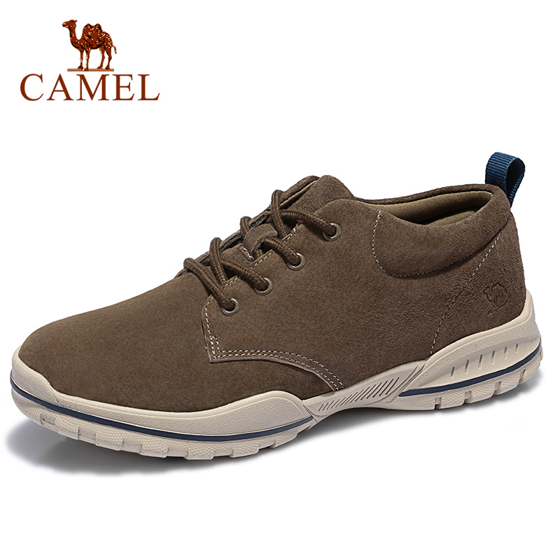 CAMEL Men's Shoes Genuine Leather Suede Fashion Sneakers Retro Jogging Shoes Men Comfortable Anti-fur Shock-absorbing Outsole