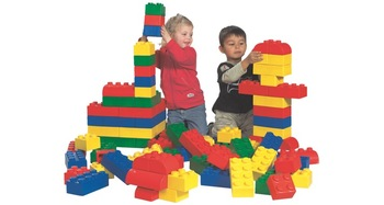 A set of soft Lego cubes. Base set