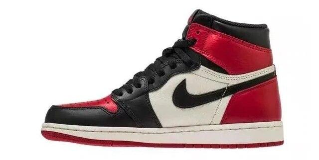 حذاء اير جوردان 1 للرجال aj1 الخالي من الخوف مع خياطة حمراء وزرقاء للراحة والتوصيل المجاني|الاحذية| - AliExpress