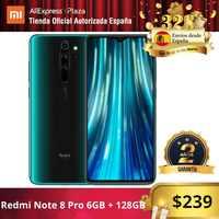 Xiaomi Redmi Note 8 Pro (128GB ROM con 6GB RAM, Cámara de 64MP, Android, Nuevo, Móvil) [Teléfono Móvil Versión Global para España] note8pro