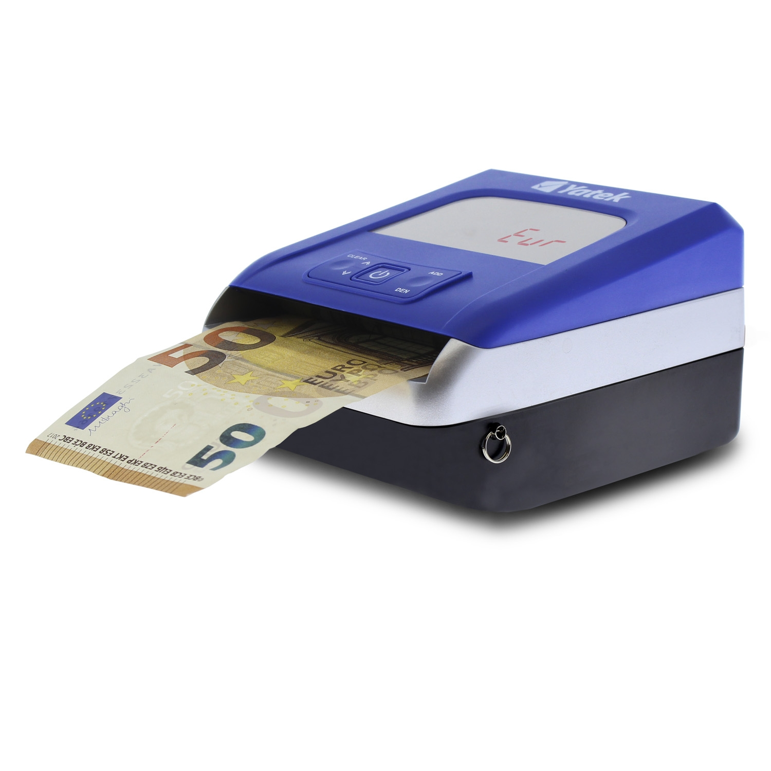 Counterfeit Detector Euro Yatek SE-0709B, 5 Detection Methods, Updateable, Upgrade Cable Included, CU