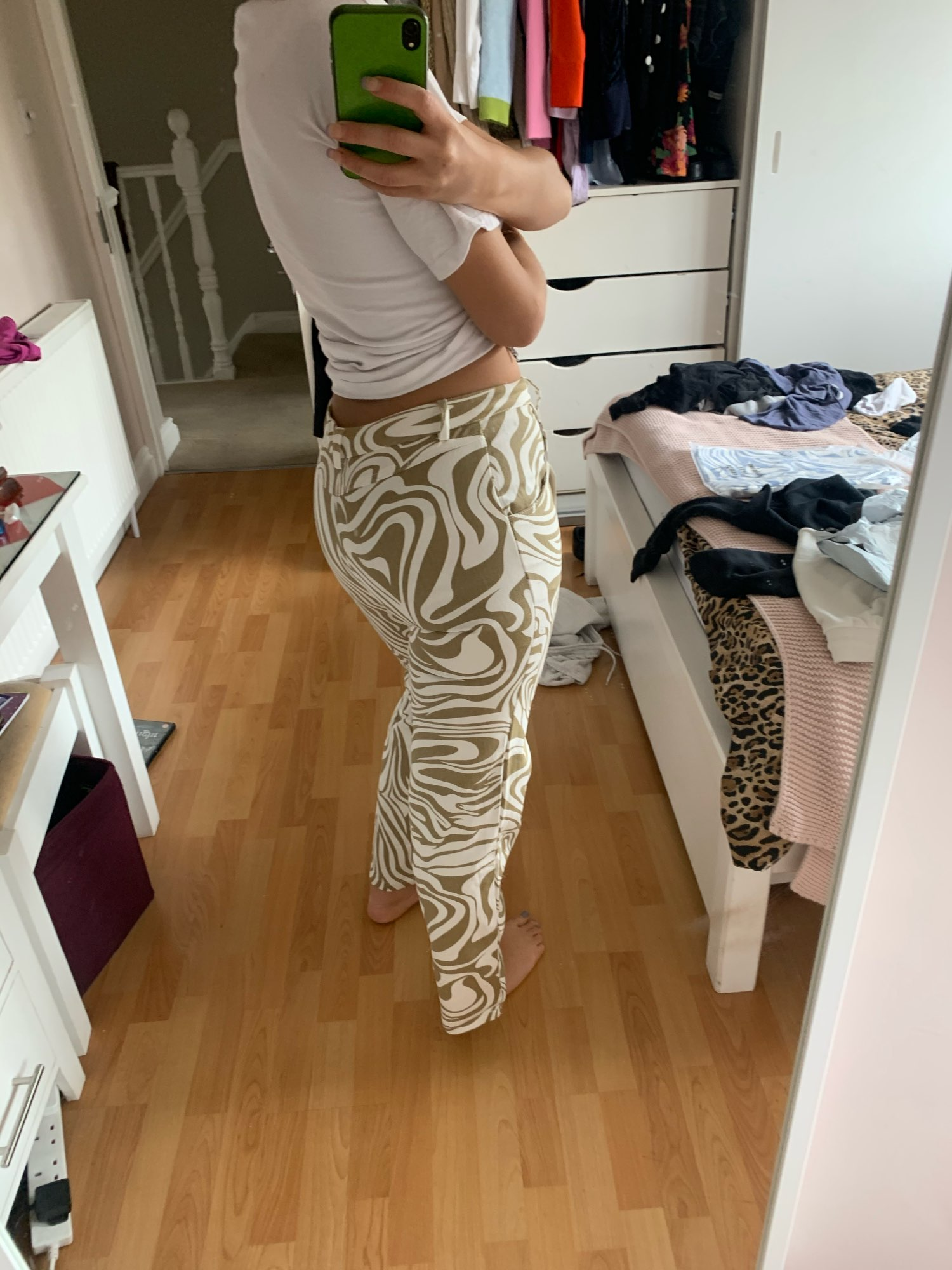Y2K Zebra Print Straight Pants photo review