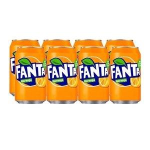 Orange Fanta can, pack 8x33cl