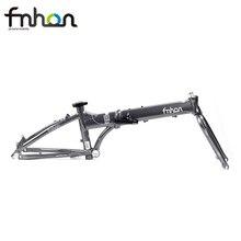 "Fnhon Explosion Aluminium Klapp Fahrrad Rahmen Gabel 20 ""406 451 Disc Bremse V Bremse Frameset 22 zoll Faltbare Rahmen"