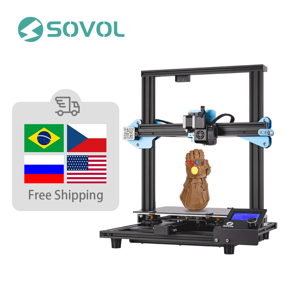Sovol SV01 3D Printer Direct Drive Extruder Large Print Size 280*240*300mm Meanwell Power Supply Tempered Glass Bed Impresora 3D
