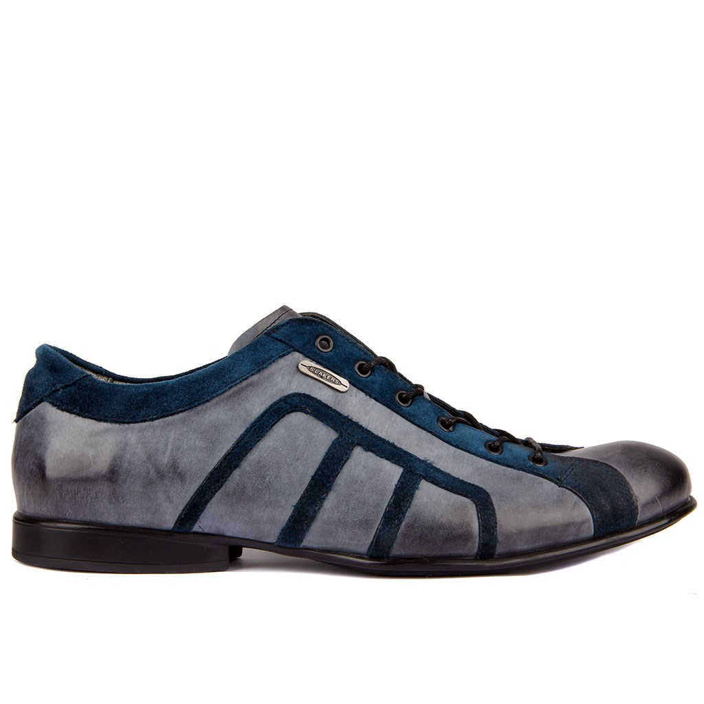 Sail Lakers-Leather Men Casual Daily Shoes Last Pair