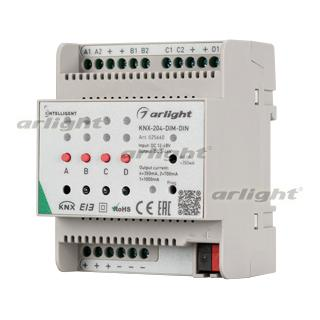 025660 INTELLIGENT. ARLIGHT Dimmer KNX-204-DIM-DIN (12-48 V, 8x0.35/0.7/2x1A) [plastic] Box-1 Pcs ARLIGHT Control ^ 83