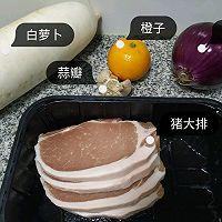 """#美食说出""""新年好""""#冬吃萝卜和大肉——蒸萝卜就烤猪大排的做法图解1"""