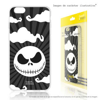 FunnyTech®Stand case for Samsung Galaxy J7 Silicone 2016 Nightmare Christmas vers. Black
