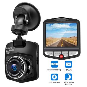 Wideorejestrator samochodowy kamera samochodowa HD 1080P rejestrator jazdy wideo Night Vision nagrywania w pętlę szerokokątny wykrywanie ruchu rejestrator Dashcam tanie i dobre opinie ToHayie GENERALPLUS Przenośny rejestrator Klasa 10 105 ° Samochód dvr 1920x1080 Wewnętrzny Wyświetlacz obróć