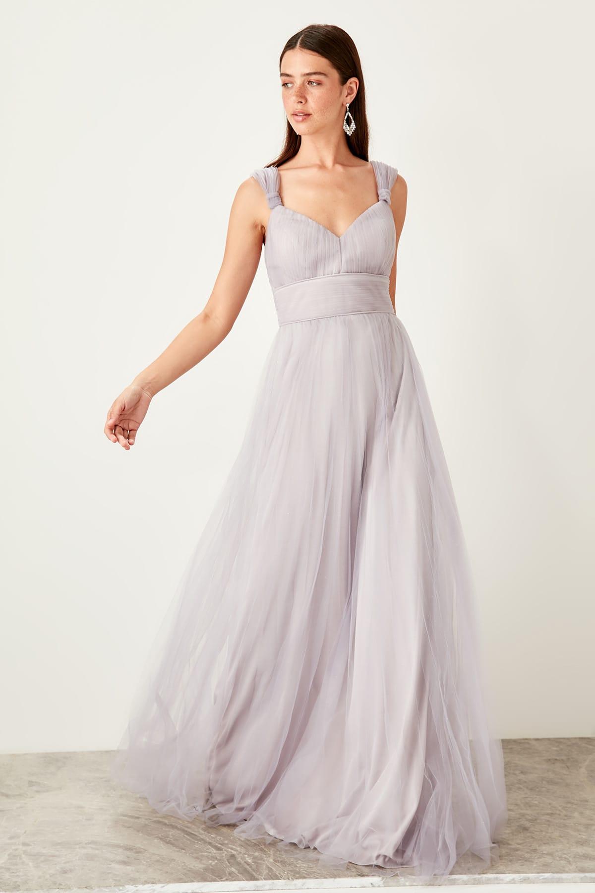 Trendyol Sleeve Detail Evening Dress TPRSS19VF0045