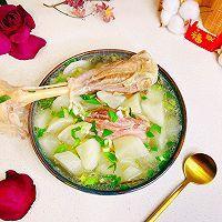 """#美食说出""""新年好""""#羊腿罗卜煲汤的做法图解1"""