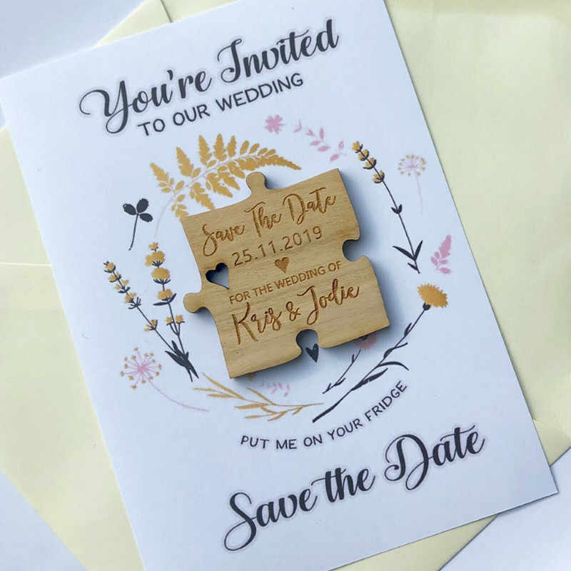 Blue gift box Save the Date Magnets  Cards  Thank you Magnets
