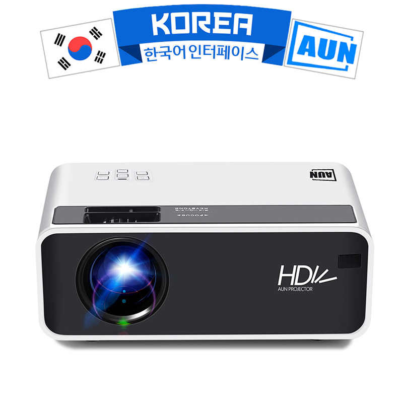 AUN LED MINI Projector D60, Resolusi 1280X720P, Portable Home Cinema,3D Video Beamer, opsional Android WIFI D60S,1080P Decoding