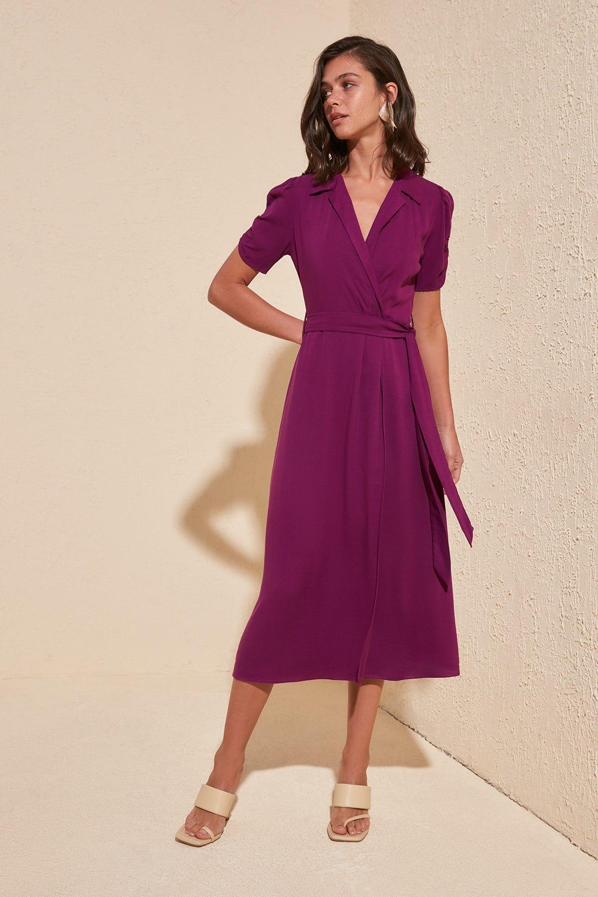 Trendyol Belted Dress TWOSS20EL2145
