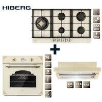 Set the cooktop HIBERG VM 9055 RY, electric oven HIBERG VM 6395 Y and hood HIBERG VM 6040 GY household home appliances