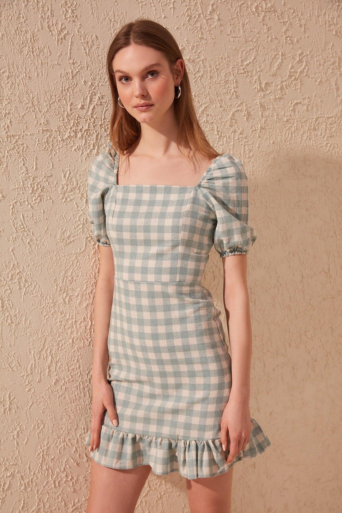 Trendyol Plaids Dress TWOSS20EL1252