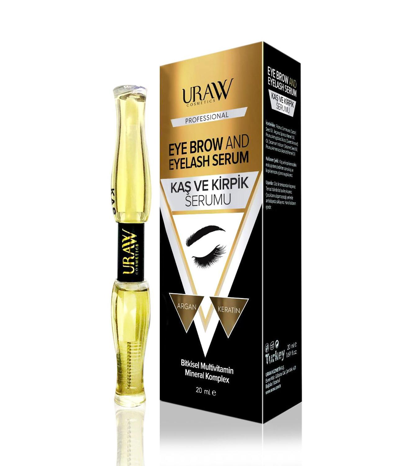 URAW EYEBROW AND EYELASH SERUM Support For The Lashes To Revive And Look Bigger