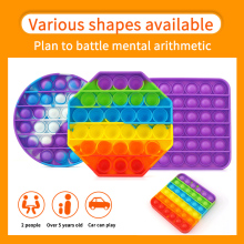 hot 20pc Antistress Toys Bubble Popping Game Fidget Sensory Push Toy Funny Kids Reliver Stress Toys Silicone Autism Special Need