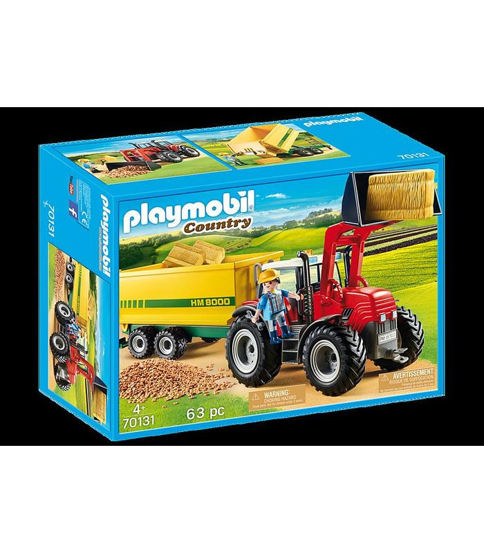 Playmobil 70131 Tractor With Trailer Toy Store