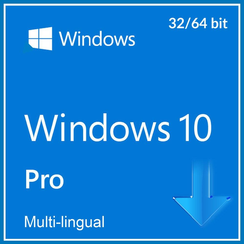 Windows 10 פרו מקצועי 32/64 קצת הפעלת קוד מפתח רב לשוני
