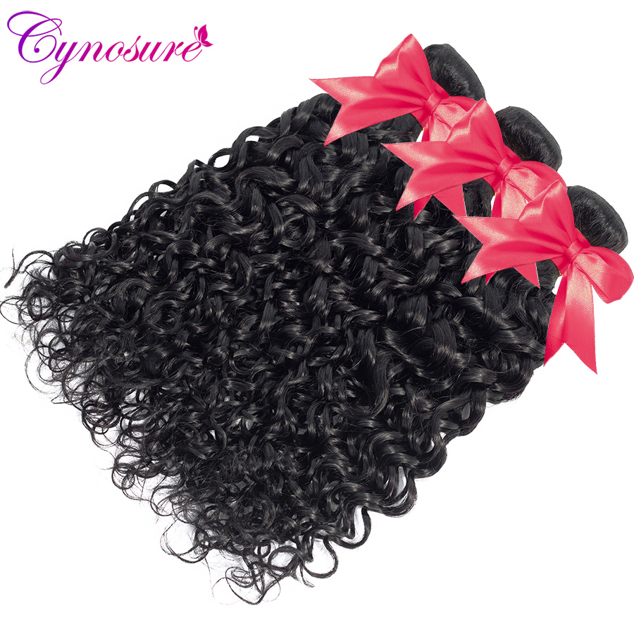 U536955c9e76c4f89a572f13ad22e271cE Cynosure Human Hair Water Wave Bundles with Closure Double Weft Brazilian Hair Weave 3 Bundles With Closure Remy