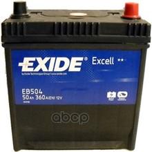 Аккумулятор Exide Excell 12v 50ah 360a Etn 0(R) Korean B1 200x170x220mm 14.8kg EXIDE арт. EB504