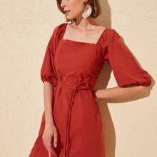 Trendyol Belted Dress TWOSS20EL0481