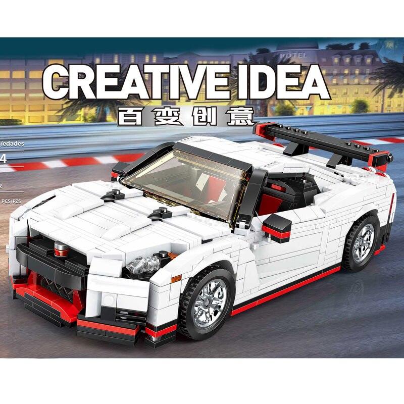 Creative Technic Moc Toys technic Car The 20518 GT R35 Racing Car Set Car Model Toys Kids Christmas Gifts Building Blocks Bricks 1