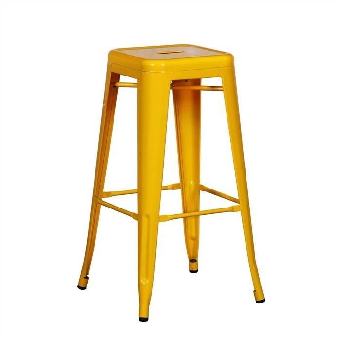 Stool TOL, Steel, Yellow