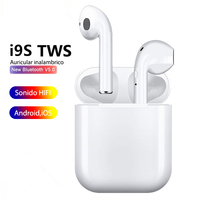 Headphones <font><b>Bluetooth</b></font> <font><b>5.0</b></font> I9S with Microphone for All Phones Compatible <font><b>Smartphone</b></font> iPhone Samsung Xiaomi Huawei image