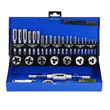 Conjunto de herramientas manuales de enhebrado, 32 Uds., llave métrica HSS Grifo y Die Set, M3-M12 de corte, Kit de ingeniero métrico con caja de Metal