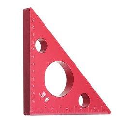 90도 알루미늄 합금 높이 통치자 인치 목공 삼각형 눈금자 측정 도구 키트 세트 Machinist 클램프