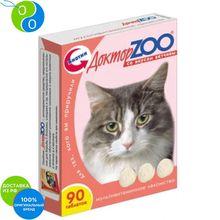 Доктор Зоо Витамины со вкусом ветчины для кошек 90 таб