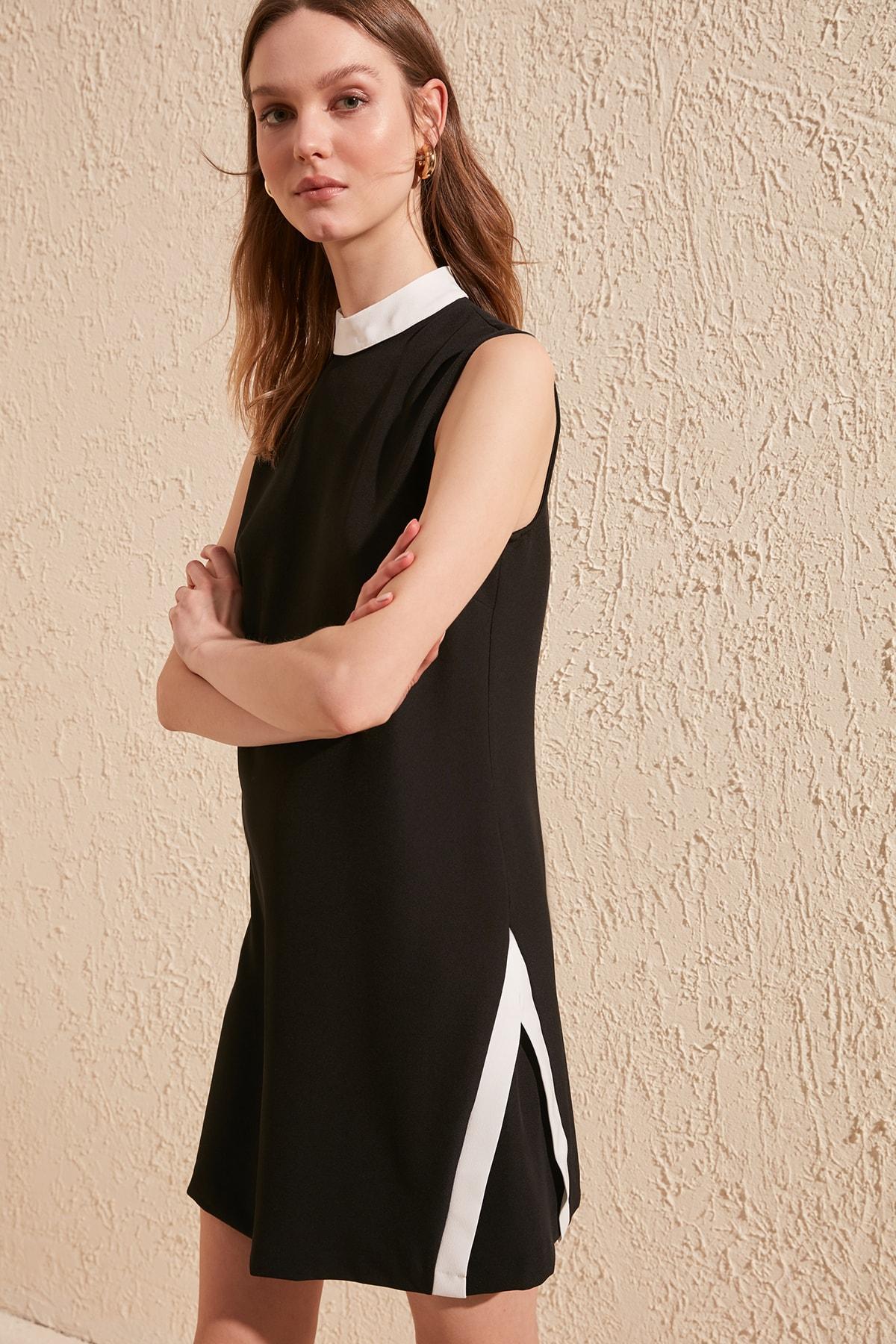 Trendyol With Color Block Dress TWOSS20EL0372