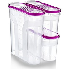 Lock & Fresh Rations and Storage Container Set-3 Piece