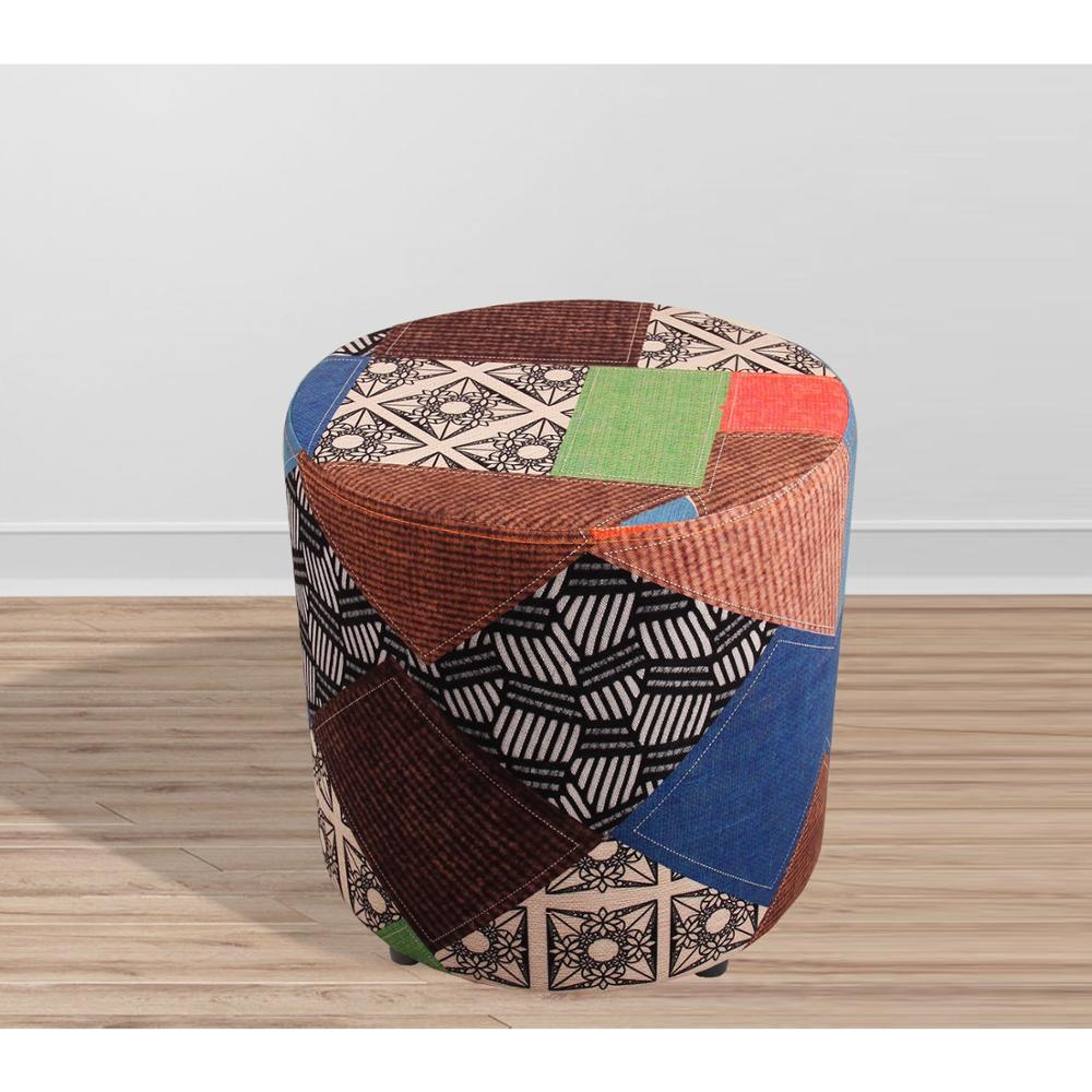 صنع في تركيا تصميم خاص خشبي كرسي بدون ظهر مقعد صغير أريكة كرسي خاص النسيج غرفة المعيشة ديكور منزلي-في مقاعد وكراسي بوسادة مرنة ومن دون ظهر من الأثاث على