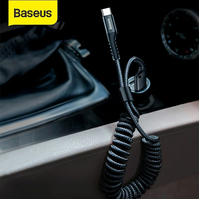 Baseus USB Type C Cable for xiaomi mi 9 mi 8 a2 for Car Styling Storage Mobile Phone 2A Charging Type C Cable for Samsung S9 S8 Mobile Phone Cables    - AliExpress